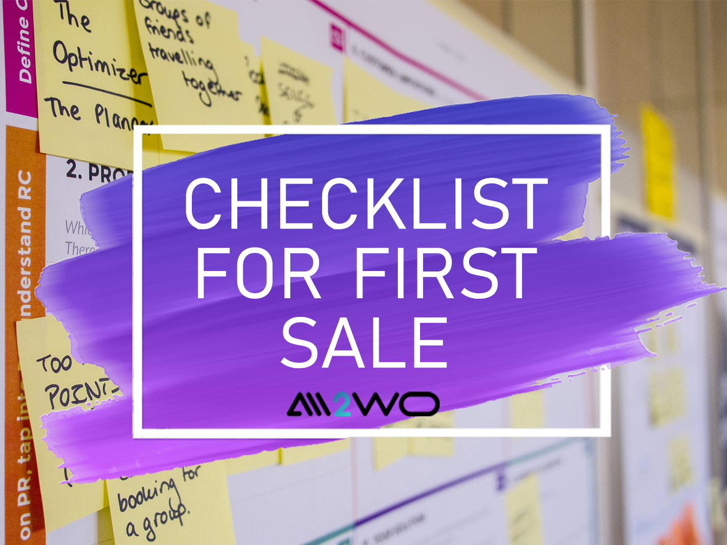 checklist for first sale